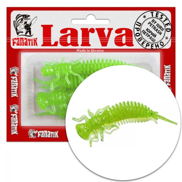 """Fanatik LARVA 1.6"""" 2"""" 2.5"""" 3"""" 3.5"""" 4.5"""" Best Soft Plastic Creature Baits"""