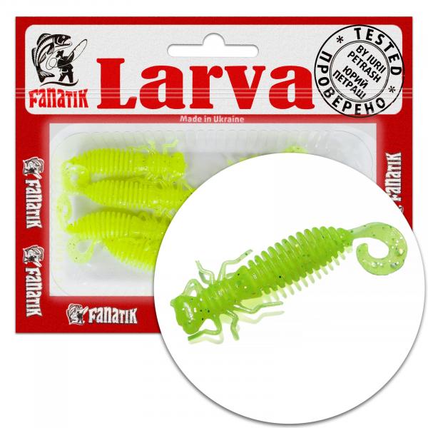 """Fanatik LARVA LUX 1.6"""" 2"""" 2.5"""" 3"""" 3.5"""" Best Soft Plastic Creature Baits"""